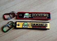 2+2 ROCKSTAR Keychain Embroidered Fabric Strap Keyring Bike New Free Shipping