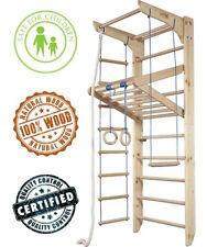 Wall Bars KN-04-220, 87 in Wooden Swedish Ladder Set Adjustable Pull Up Bars