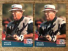 (2) 1991 Pro Set PGA Tour MILLER BARBER (D 2013) Autograph Golf Cartes signées 250