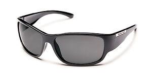 New Suncloud Convoy Sport Polarized Sunglasses Black Frames Gray