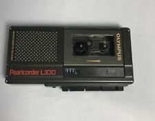 Used Olympus Pearlcorder L100 Micro Cassette Voice Recorder - TESTED