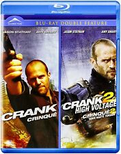 NEW BLU-RAY  DOUBLE FEATURE - CRANK + CRANK 2  --- JASON STATHAM , AMY SMART