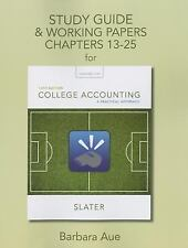 Study Guide and Working Papers for College Accounting : A Practical Approach, Ch