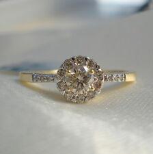 Natural Rare Unenhanced Australian Champagne Diamond 18k Gold Engagement Ring