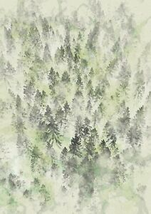 """Forest watercolor painting unique gift (Print) 5""""x7"""""""