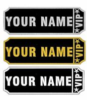 Personalised Embroidered Name Iron On Patches Jeans Tags VIP Badge Biker Club