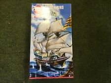 Airfix 1/150 scale Golden Hind plastic model kit with free 24ml tube of glue