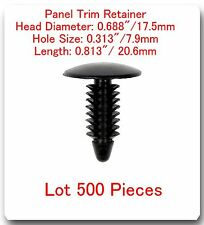 500 Pc Panel Trim Retainer Head 17.5mm Hole 7.9mm L:20.6mm Fits: Ford 388577S