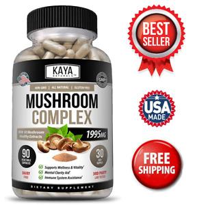 10x Mushroom Complex Supplement, Loins Mane, Reishi, Shiitake, Immune Capsule