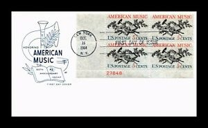 DR JIM STAMPS US AMERICAN MUSIC FIRST DAY ISSUE PLATE BLOCK COVER
