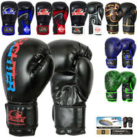 Smart Pro Leather Boxing Gloves,MMA,Sparring Punch Bag,Muay Thai Training Gloves
