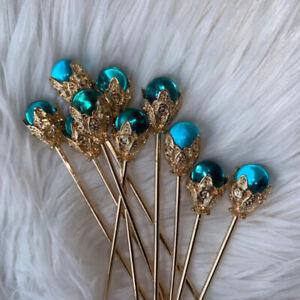 1Pc Blue Hair Claw Plate Hairpin Headdress Hair Sticks Ornaments Ancient St CA