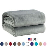 Bedsure Luxury Flannel Fleece Blanket Plush Blanket Throw Microfiber Bed Blanket