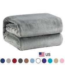 Bedsure Luxury Flannel Fleece Blanket Plush Blanket Throw Microfiber Bed Soft Us