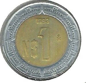 1993 Mexico Uncirculated One Peso Coin