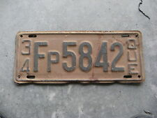 1934 34 QUEBEC CANADA CANADIAN LICENSE PLATE NICE TAG FARMER PRIVATE CAR RARE