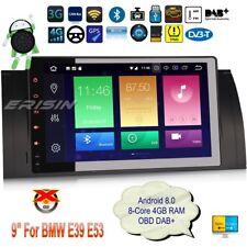 "Navigatore Android 8.0 BMW E39 Autoradio E53 5er X5 M5 DAB+ GPS OBD DTV 9""7493IT"