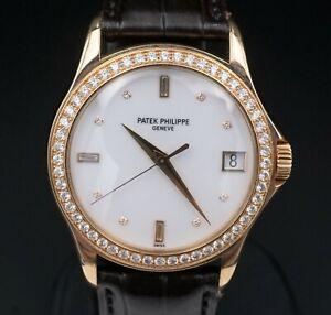 Patek Philippe 5108R Diamond Bezel 18k Rose Gold Calatrava 37mm W543