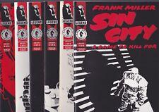 Sin City: A Dame To Kill For #1-6, 1993 Dark Horse Comics Full Set Frank Miller