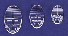 "3 Piece Quilt Ovals Templates 1/4 "" -4"", 5"" ,6"" -Multi Purpose"