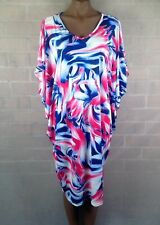New kaftan boho pink and blue top or dress size 12 to 18 Hourglass brand stretch
