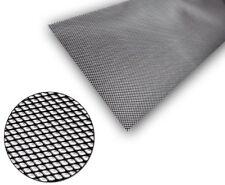 1x Black Universal Aluminium Grille Grill Mesh Net Vent Bumper 5x3mm 100x40cm