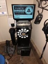 Vintage Bell System 3 Coin Pay Phone Public Telephone Station Western Electric