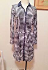 Tommy Hilfiger Printed Shirtdress Rayon Women Navy Blue White Plaid Dress XS NWT