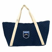 NFL Los Angeles Chargers Chev-Stitch Weekender Tote *