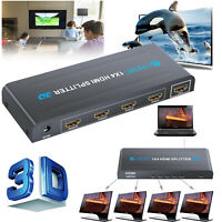 1080P 4-Way HDMI Splitter Hub Amplifier Switcher Adapter 4K*2K HDTV PS PS3 XBOX