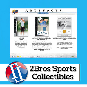 2021 Artifacts Golf 5 Hobby Box Half Case Break 5/12 2pm CST - Adam Long