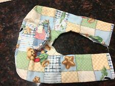Baby Bottle Holder / Prop,Blue Jean Teddy design, handmade