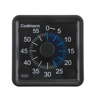 60 Minutes Visual Analog Timer Silent Countdown Kitchen Clock Manage Portable