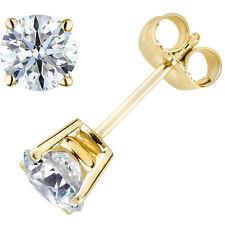 Original McPearl Solitär Diamant Ohrringe Ohrstecker. Top Qualität in 585er Gold