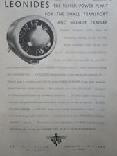6/1946 PUB ALVIS AERO ENGINES LEONIDES AIR COOLED RADIAL ENGINE ORIGINAL AD