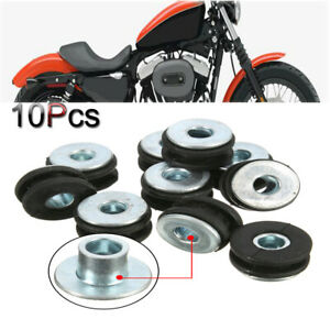 10x  Universal 6mm Motorcycle Rubber Grommets Bolt Kit Replacement Accessories