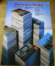 SWISS EXHIBITION  POSTER 1980 - GREETINGS FROM NEW YORK - POSTCARDS TELL STORY