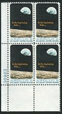 US Scott #1371 Plate Block of 4, Apollo 8, MNH, 1969, 6¢
