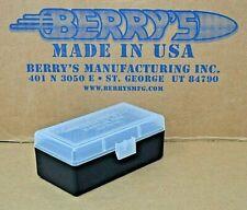 38 / 357 Plastic Storage Ammo Box (Clear / Black) Berry'S Mfg Buy 3 Get 1 Free