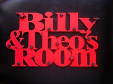 Personalised Childrens double door room Sign Wall hanging two kids names