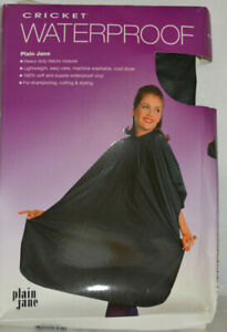 Cricket Waterproof Plain Jane Cape for Shampooing-Cutting-Styling--  color Black