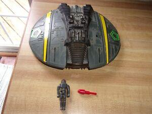 Vintage 1978 Cylon Raider ship + Pilot + 1 Firing Missile Galactica Mattel RARE