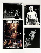 THE WHO Official Program 1980  CONCERT PROGRAM + 3 Concert Photos