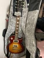 Maison LP Type Electric Guitar Cherry Sunburst Used Japan Free Shipping
