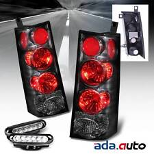 2003-2008 GMC Savana/Chevrolet Express Van Black Tail Lights + LED Fog Lamps
