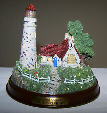Thomas Kinkade - The Light Of Peace - Lighted Figurine - Wonderful Condition!