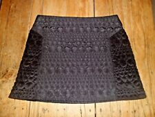 Stunning Top Shop Unusual Padded Black Skirt UK 12 Worn Once