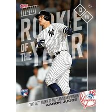 2017 TOPPS NOW #OS-64 AARON JUDGE 2017 A.L. ROOKIE OF THE YEAR AWARD RECIPIENT