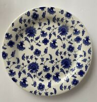 Pier 1 Imports Dessert Plates Floral Blue White Chintz Ceramic Set of 4 NEW