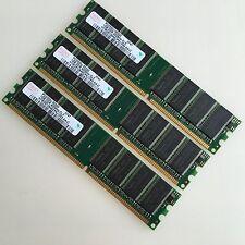 Hynix 3GB KIT 3x1GB PC3200 DDR400 400Mhz DIMM Desktop Memory CL3 Low-Density RAM